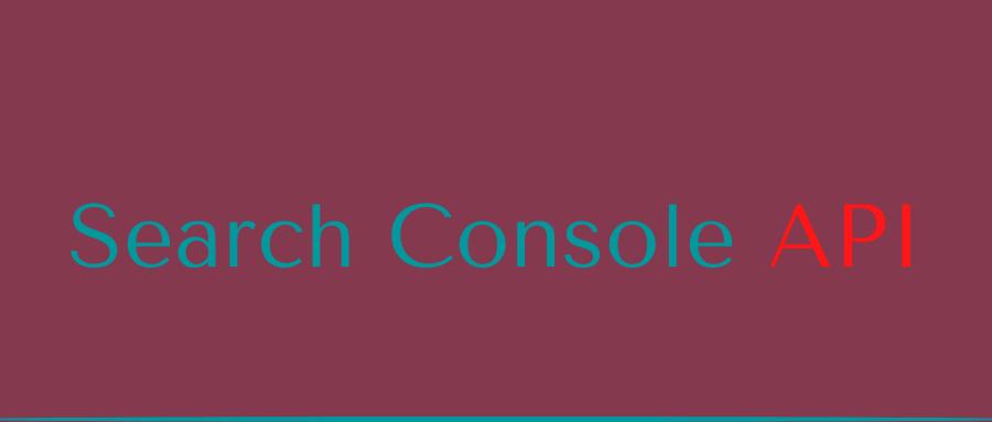 Search Console API