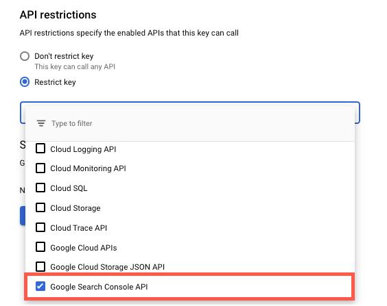 API Restrictions