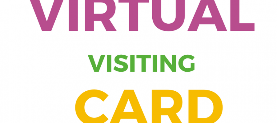 google virtual visiting cards